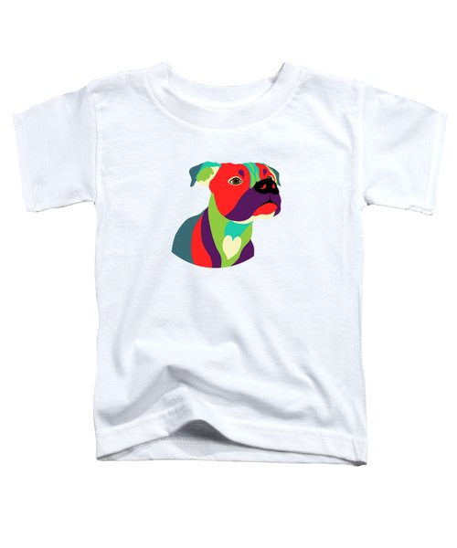 Bennie The Boxer Dog - Wpap Toddler T-Shirt by Shara Lee
