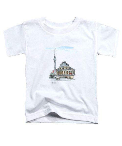 Berlin Fernsehturm Toddler T-Shirt by Petra Stephens