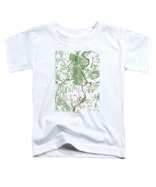 Berlin Minimal Map Toddler T-Shirt by Jasone Ayerbe- Javier R Recco