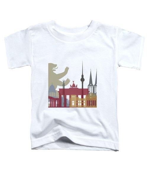 Berlin Skyline Poster Toddler T-Shirt by Pablo Romero
