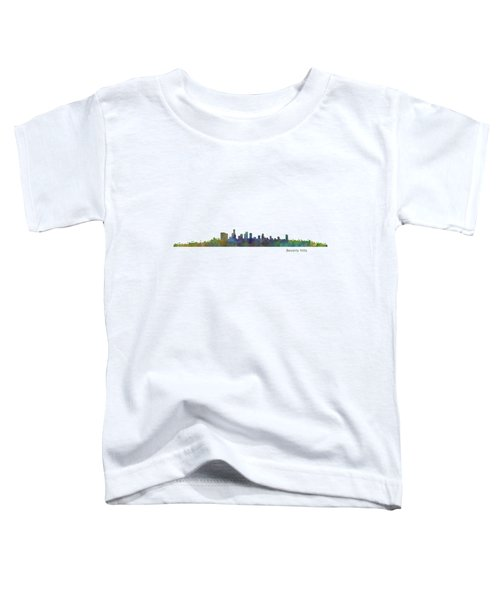 Beverly Hills City In La City Skyline Hq V1 Toddler T-Shirt by HQ Photo