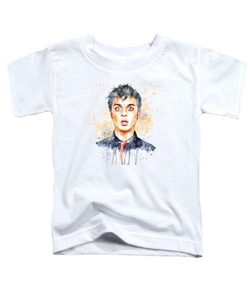 Billie Joe Armstrong Toddler T-Shirt by Marian Voicu