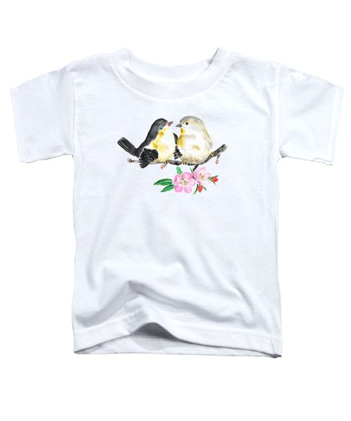 Birds And Apple Blossom Toddler T-Shirt by Color Color