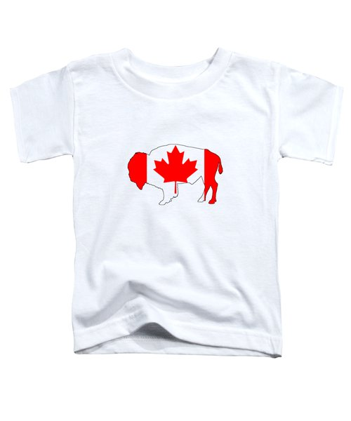 Bison Canada Toddler T-Shirt by Mordax Furittus