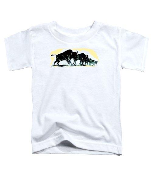 Bison Prairie Run Toddler T-Shirt by Aliceann Carlton