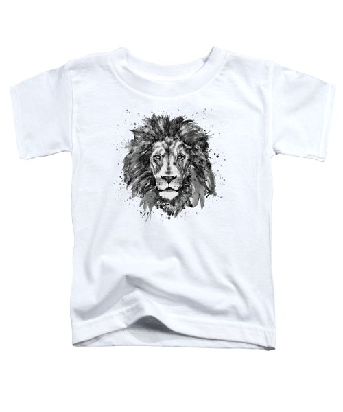 Black And White Lion Head  Toddler T-Shirt by Marian Voicu