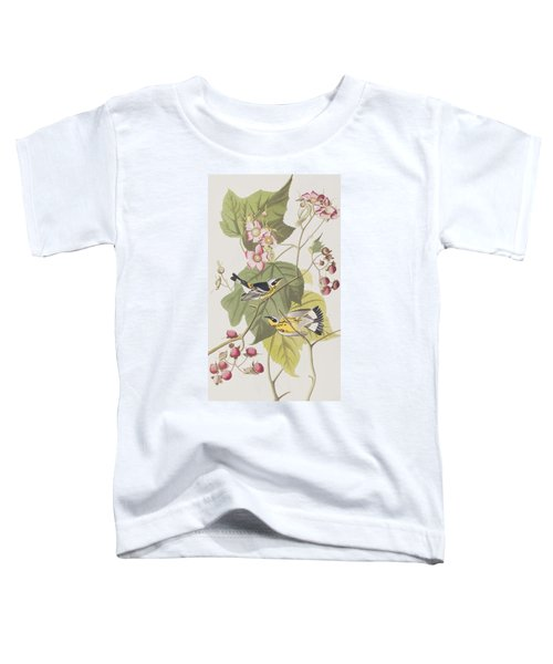 Black And Yellow Warblers Toddler T-Shirt by John James Audubon