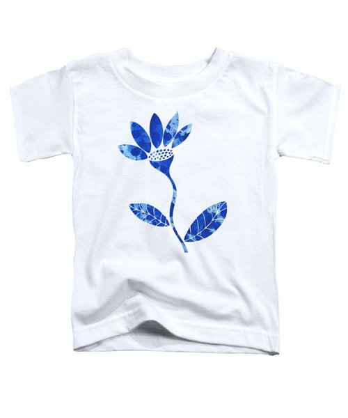 Blue Flower Toddler T-Shirt by Frank Tschakert