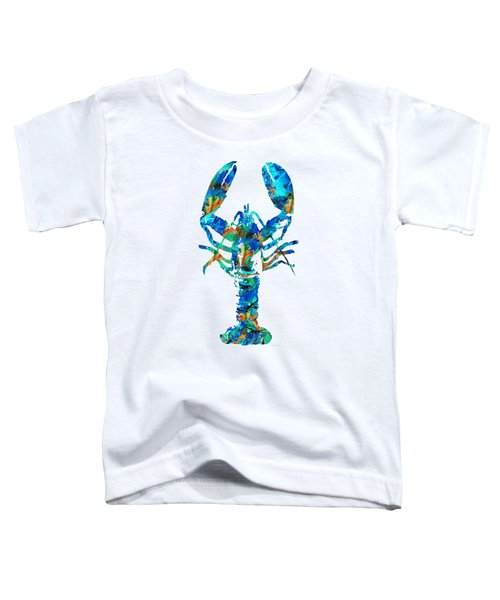 Blue Lobster Art By Sharon Cummings Toddler T-Shirt by Sharon Cummings