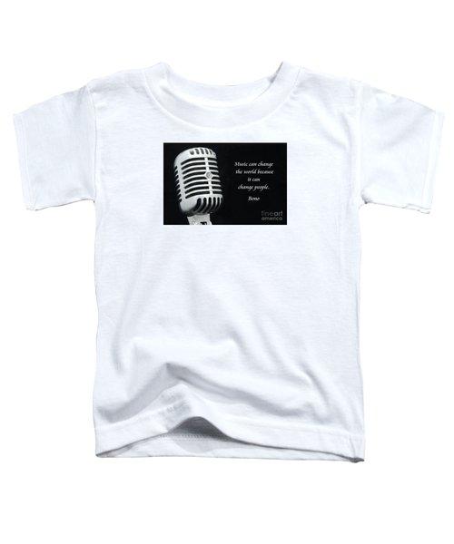 Bono On Music Toddler T-Shirt by Paul Ward
