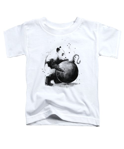 Boom Panda Toddler T-Shirt by Olga Shvartsur