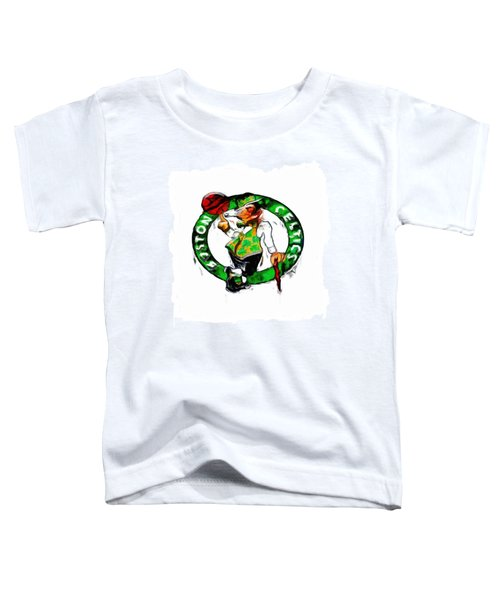 Boston Celtics 2b Toddler T-Shirt by Brian Reaves