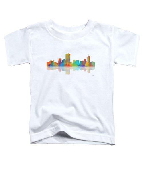 Boston Ma. Skyline Toddler T-Shirt by Marlene Watson
