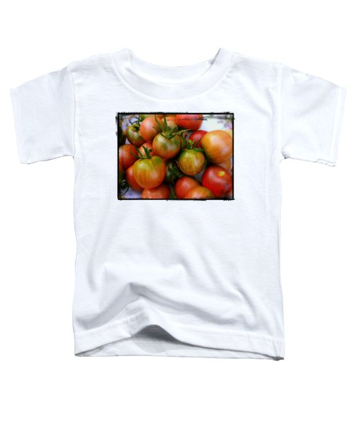 Bowl Of Heirloom Tomatoes Toddler T-Shirt by Kathy Barney