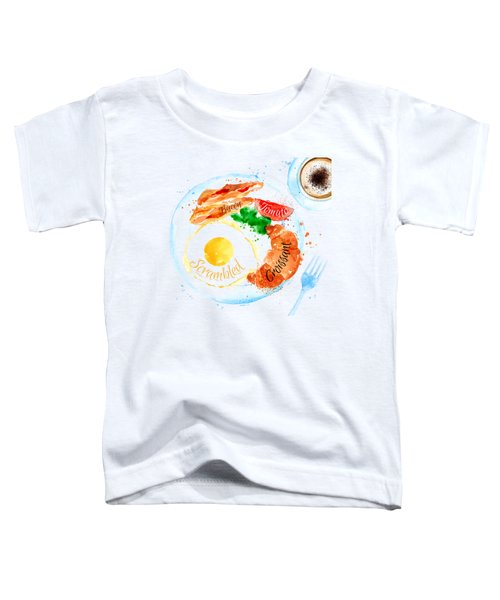 Breakfast 01 Toddler T-Shirt by Aloke Design