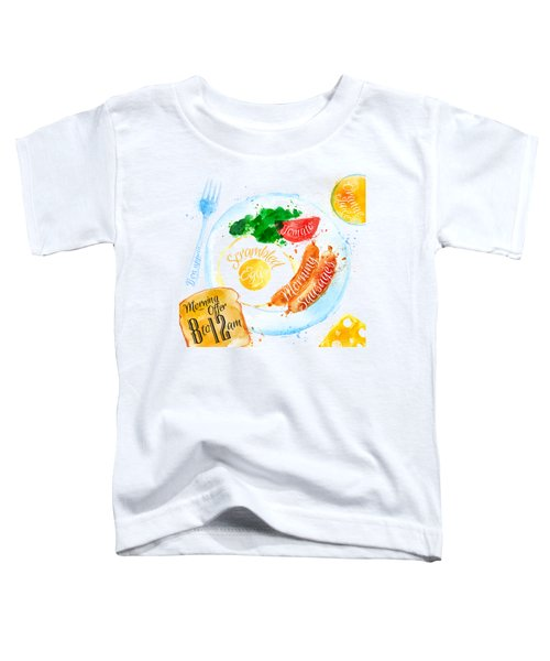 Breakfast 04 Toddler T-Shirt by Aloke Design