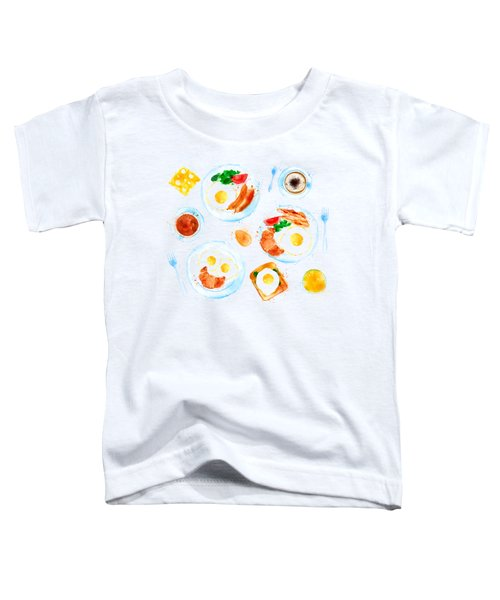 Breakfast 05 Toddler T-Shirt by Aloke Design