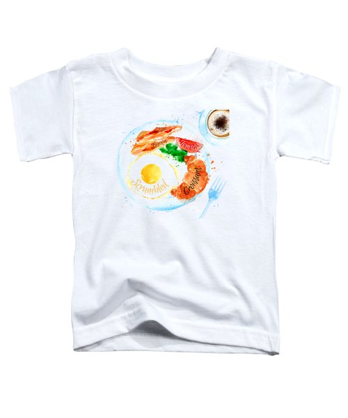 Breakfast 03 Toddler T-Shirt by Aloke Design