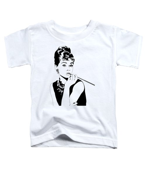 Breakfast At Tiffany's Toddler T-Shirt by Amy Wilkinson