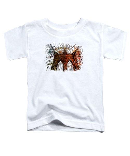 Brooklyn Bridge Art 1 Toddler T-Shirt by Di Designs