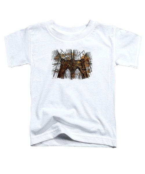 Brooklyn Bridge Earthy 3 Dimensional Toddler T-Shirt by Di Designs