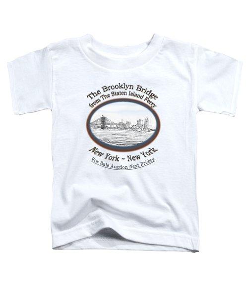 Brooklyn Bridge Toddler T-Shirt by James Lewis Hamilton