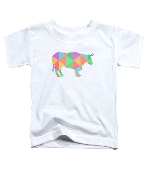 Bull Cow Triangles Toddler T-Shirt by Edward Fielding