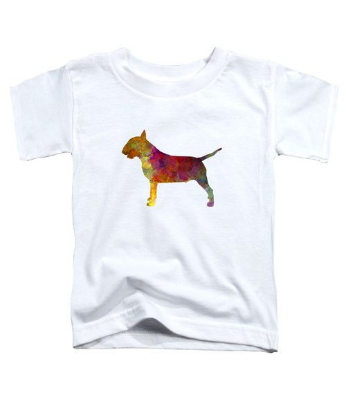 Bull Terrier In Watercolor Toddler T-Shirt by Pablo Romero
