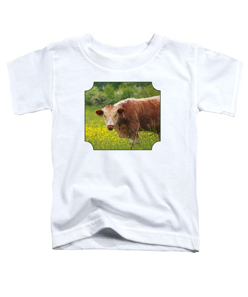 Buttercup - Brown Cow Toddler T-Shirt by Gill Billington
