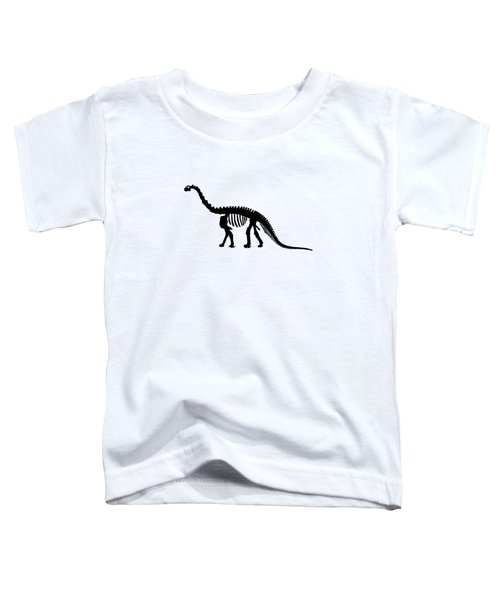 Camarasaurus Skeleton Toddler T-Shirt by Mordax Furittus