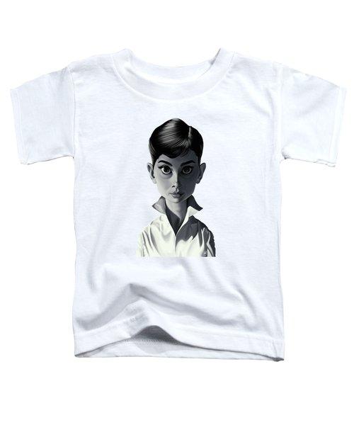 Celebrity Sunday - Audrey Hepburn Toddler T-Shirt by Rob Snow