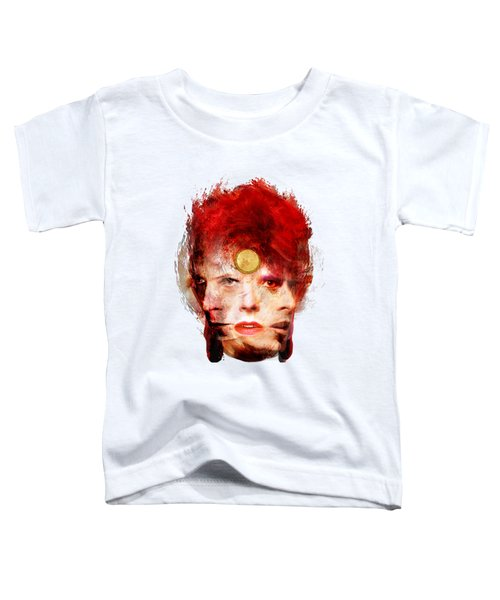 Ch Ch Changes David Bowie Portrait Toddler T-Shirt by Big Fat Arts