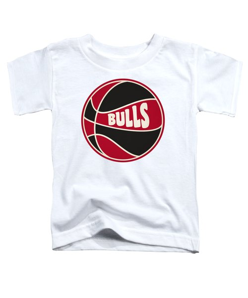 Chicago Bulls Retro Shirt Toddler T-Shirt by Joe Hamilton