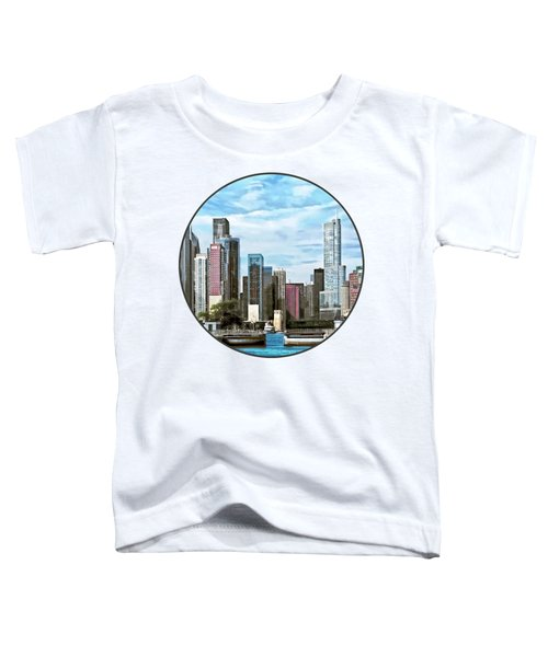 Chicago Il - Chicago Harbor Lock Toddler T-Shirt by Susan Savad