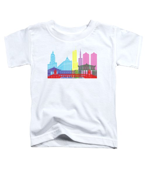 Chicago Skyline Pop Toddler T-Shirt by Pablo Romero