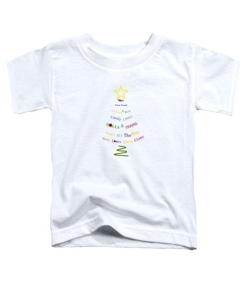 Children Holiday Tree Toddler T-Shirt by Kathleen Sartoris