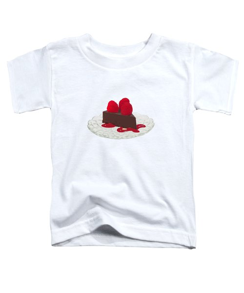 Chocolate Cake Toddler T-Shirt by Priscilla Wolfe