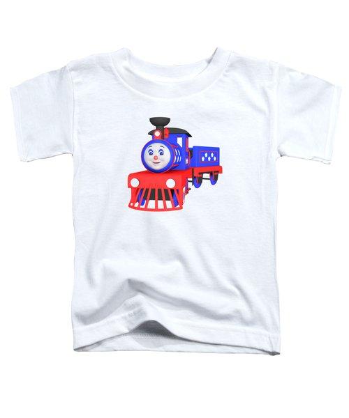 Choo-choo The Train - 1 Toddler T-Shirt by Yulia Litvinova