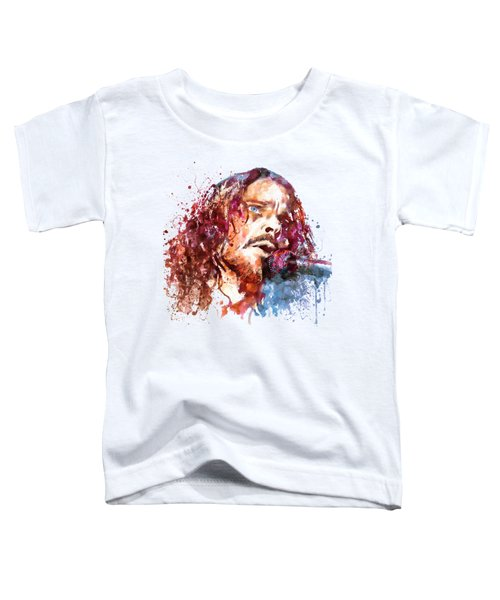 Chris Cornell Toddler T-Shirt by Marian Voicu