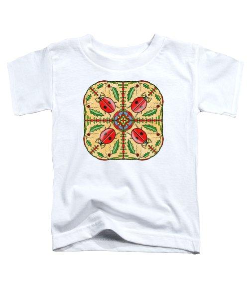 Christmas Ladybug Mandala Toddler T-Shirt by Tanya Provines