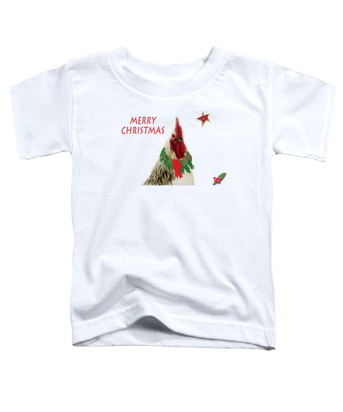 Christmas Rooster Tee-shirt Toddler T-Shirt by Donna Brown