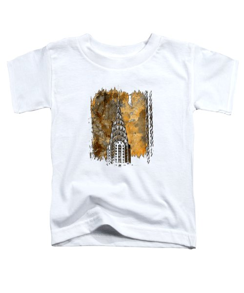 Chrysler Spire Earthy 3 Dimensional Toddler T-Shirt by Di Designs