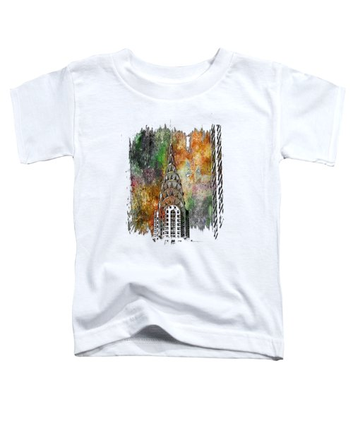 Chrysler Spire Muted Rainbow 3 Dimensional Toddler T-Shirt by Di Designs