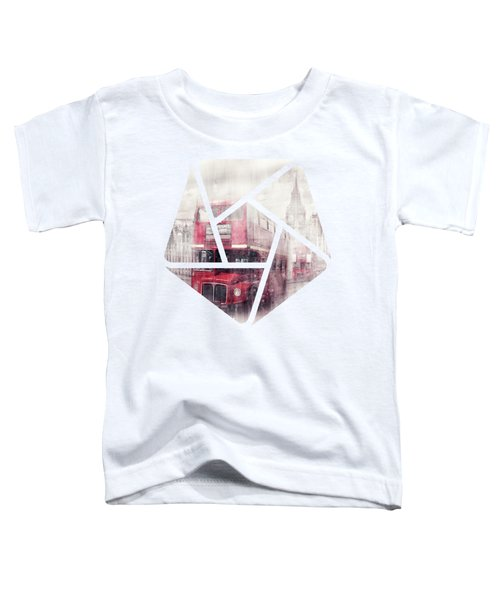 City-art London Westminster Collage II Toddler T-Shirt by Melanie Viola