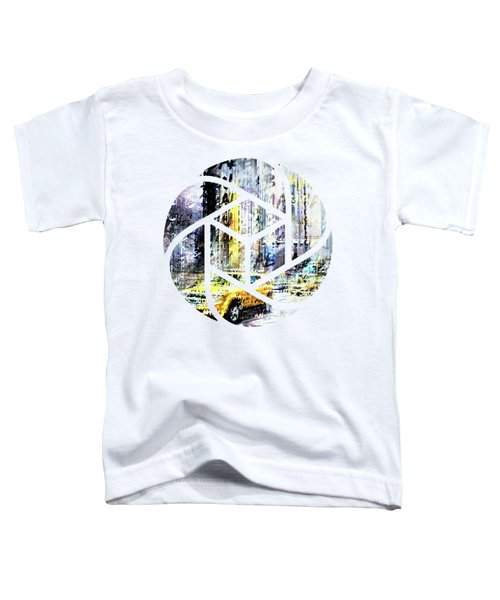City-art Times Square Streetscene Toddler T-Shirt by Melanie Viola