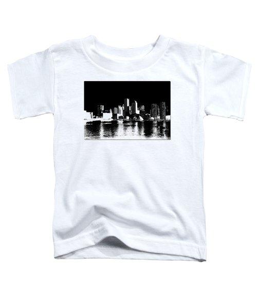 City Of Boston Skyline   Toddler T-Shirt by Enki Art