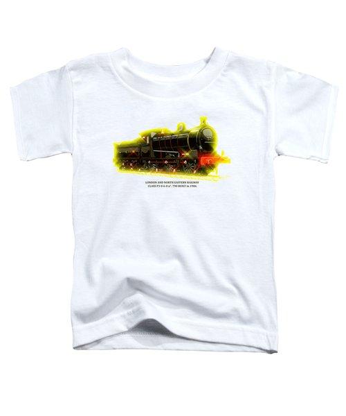 Classic British Steam Locomotive Toddler T-Shirt by Heidi De Leeuw