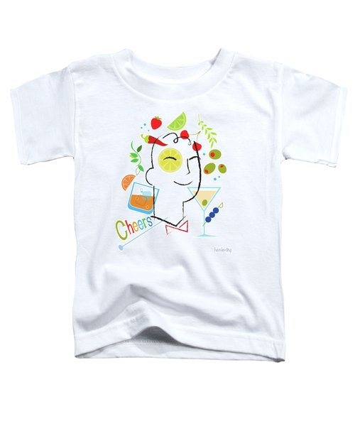 Cocktail Time Toddler T-Shirt by Lisa Henderling