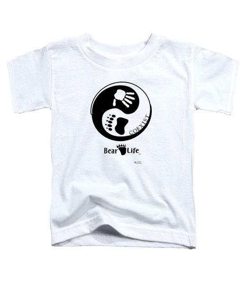 Coexist-yin Yang Bear Life Toddler T-Shirt by PJ Jackson