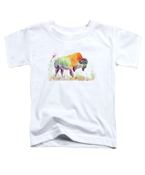 Colorful American Buffalo Toddler T-Shirt by Melly Terpening